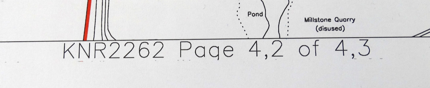 Page numbering for a large title plan