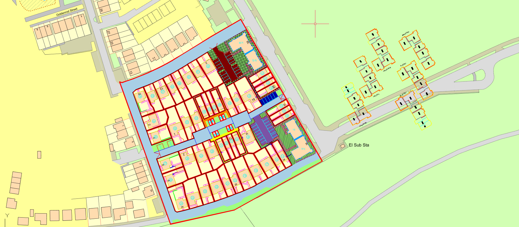 A building plan showing individual flats within a property.